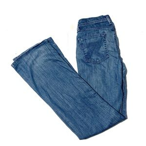 7 for all mankind flynt bootcut jeans size 28
